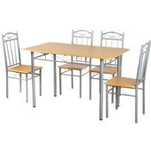 Vigor Fur 101 ebédlőasztal 4db székkel étkezőgarnitúra bükk