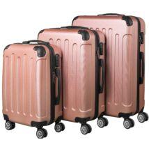 VIGOR Traveling 8 3 db-os, ABS, guruló, aranyvörös bőrönd szett (55cm+65cm+75cm)