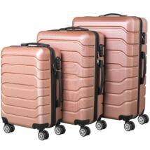VIGOR Traveling 9 3 db-os, ABS, guruló, aranyvörös bőrönd szett (55cm+65cm+75cm)