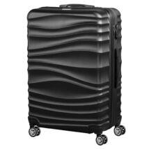 VIGOR Traveling 3,  ABS, guruló, fekete bőrönd 75 cm