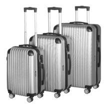 Vigor Traveling 4, 3 db-os, ABS, guruló, szürke bőrönd szett (55cm+65cm+75cm)