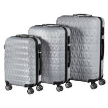 VIGOR Traveling 6, 3 db-os, ABS, guruló, szürke bőrönd szett (55cm+65cm+75cm)