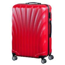 VIGOR Traveling 7,  ABS, guruló, piros bőrönd 75 cm