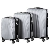 VIGOR Traveling 7, 3 db-os, ABS, guruló, szürke bőrönd szett (55cm+65cm+75cm)