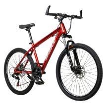 """MAKE T4 B068 teleszkóp tárcsafék 21 sebesség 26""""-os kerekek 17"""" váz MTB kerékpár piros"""