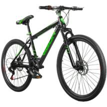 """Vigor B33  26""""-os, 21 sebességes,  teleszkóp tárcsafék MTB kerékpár, fekete-zöld"""