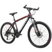 """MAKE RACER-X B069 alumínium váz teleszkóp tárcsafék 21 sebesség 26""""-os kerekek 17"""" váz MTB kerékpár fekete-piros"""