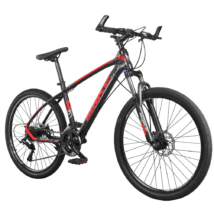 """MAKE MK930 B074 alumínium váz zárható teleszkóp tárcsafék Shimano 21 sebesség 26""""-os kerekek 17"""" váz MTB kerékpár fekete-piros"""