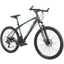 """MAKE MK930 B074 alumínium váz zárható teleszkóp tárcsafék Shimano 21 sebesség 26""""-os kerekek 17"""" váz MTB kerékpár szürke-kék"""