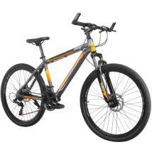 """MAKE X896 B090 alumínium váz teleszkóp tárcsafék 21 sebesség 26""""-os kerekek 17"""" váz MTB kerékpár szürke-narancs"""