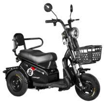 Vigor EB08 elektromos háromkerekű robogó tricikli fekete