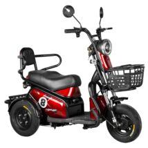 Vigor EB08 elektromos háromkerekű robogó tricikli piros 20Ah