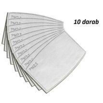 VIGOR Maszk 500 PM2.5 cserélhető aktívszén szűrőlap betét 10 darab
