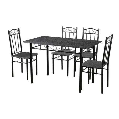 Vigor Fur 101B ebédlőasztal 4db székkel étkezőgarnitúra fekete gránit