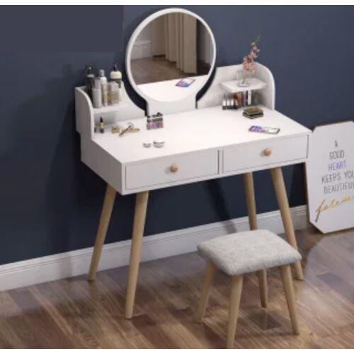 Sminkasztal Fésülködőasztal Öltözőasztal Vigor HT-Bella Fehér
