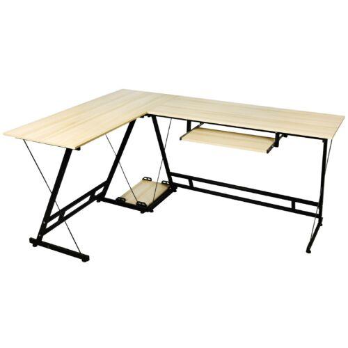 L alakú irodai asztal íróasztal Vigor OT-MAPLE Juhar