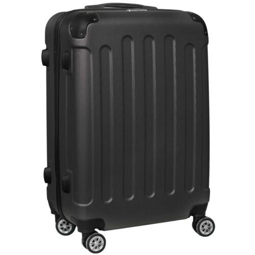 VIGOR Traveling 8  ABS guruló fekete bőrönd 65 cm