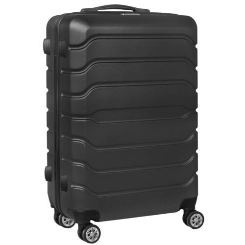 VIGOR Traveling 9 ABS guruló fekete bőrönd 55 cm