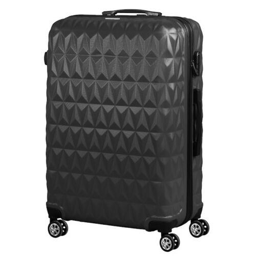 VIGOR Traveling 6,  ABS, guruló, fekete bőrönd 55 cm