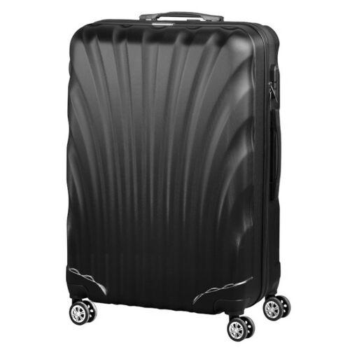 VIGOR Traveling 7,  ABS, guruló, fekete bőrönd 55 cm