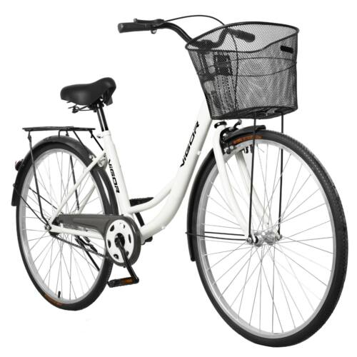 """Vigor B32 alacsony átlépésű 26"""" utcai kerékpár fehér"""
