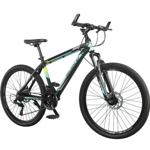 """MAKE X896 B090 alumínium váz teleszkóp tárcsafék 21 sebesség 26""""-os kerekek 17"""" váz MTB kerékpár fekete-kék"""
