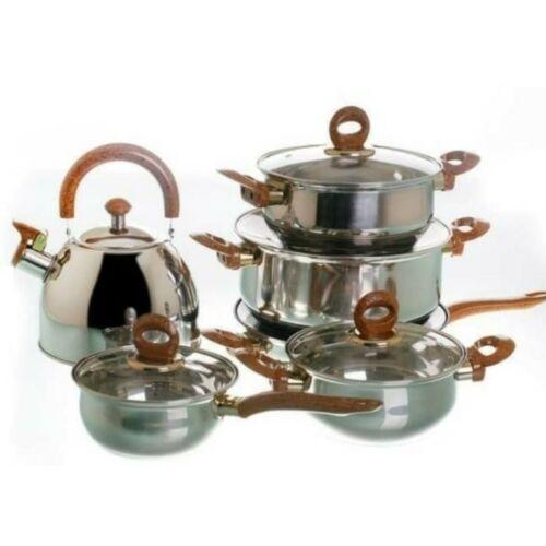 Vigor G012 rozsdamentes edénykészlet teáskannával üvegtetővel 12 darabos