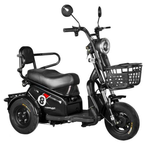 Vigor EB08 elektromos háromkerekű robogó tricikli fekete 20Ah