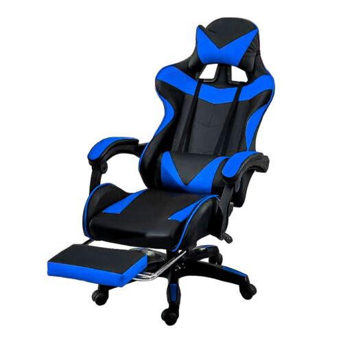 Vigor OC05 ergonómikus gamer gaming főnöki szék forgószék lábtartóval kék