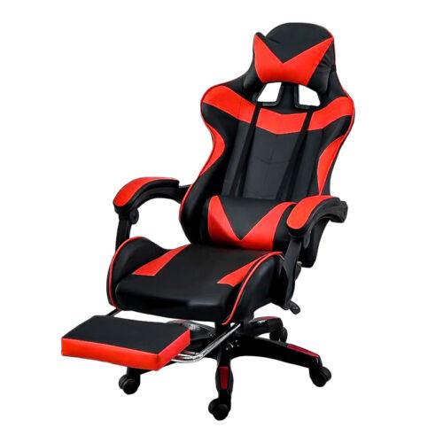 Vigor OC05 ergonómikus gamer gaming főnöki szék forgószék lábtartóval piros