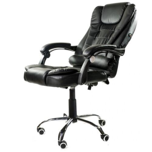 Vigor OC04 irodai forgószék beépített USB-s masszázs funkcióval modern főnöki szék forgószék fekete