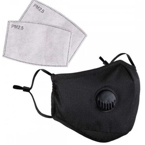 VIGOR Maszk 700 mosható szelepes légzőmaszk szájmaszk maszk kettő darab  PM 2.5 cserélhető aktívszén szűrőlap